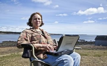 Kathy Garcelon, who cultivates wild blueberries and raises cattle and sheep on her Point of Maine Farm near Machiasport, has been honing her computer skills over the past two years through a federally funded technology literacy program. That Washington County program is being extended through 2014 thanks to a new private-sector grant.