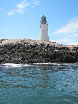 Moose Peak Light stands on Mistake Island off the coast of Jonesport.