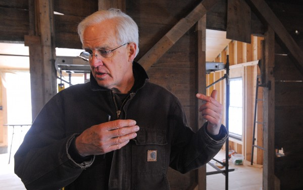 Restoring the Mill at Freedom Falls has become a labor of love Tony Grassi of Camden. He bought the run-down building and successfully had it placed on the National Register of Historic Places. Now he is overseeing the historically accurate restoration and hopes to attract commercial tenants when the work is complete.
