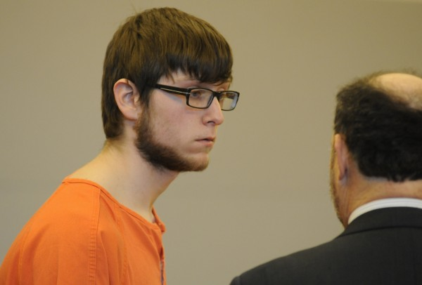 Dustin Brown, 18, makes his initial court appearance at the Penobscot Judicial Center on Thursday, Jan. 3, 2013.