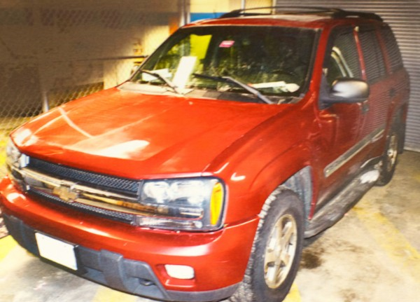Margarita Fisenko Scott's body was found in this Chevy Trailblazer in the parking lot of a Portland Motel 6 on Jan. 17, 2013. Police are asking for the public's help in solving her homicide.