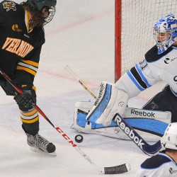 UMaine goalie Ouellette earns starting job with performance in rare back-to-back starts