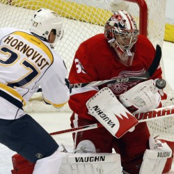 Ex-Maine goalie Howard to start for Wings Friday