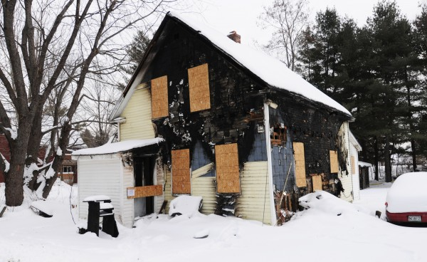 "The house located at 53 Hillside Road in Orono as seen on Friday, January 4, 2013. Randy Davis, 47, who owned the home, and his brother Cris ""Cricket"" Davis, 49 both lost their lives in the early morning hours of Sunday, December 23, 2012 in a house fire at that address. No working smoke detectors were in the home according to reports published earlier by the Bangor Daily News."