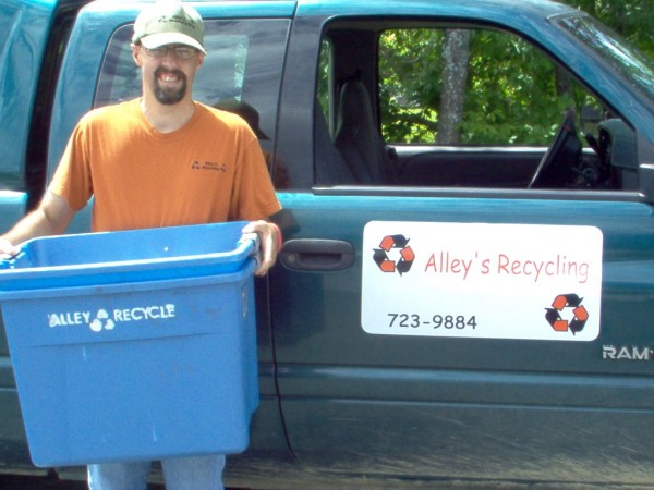 Corey Alley, 37, of Millinocket, has an intellectual disability but started his own business collecting recyclables.