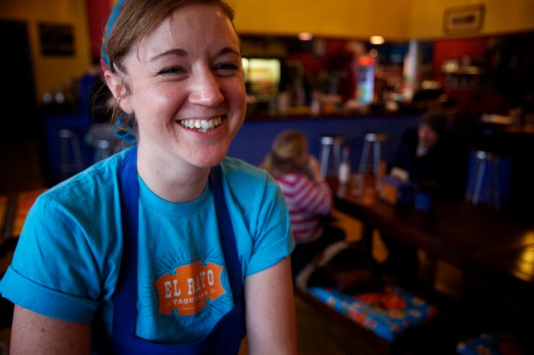 Casey Turner of El Rayo Taqueria in Portland makes $5 burritos whenever the city calls a parking band.