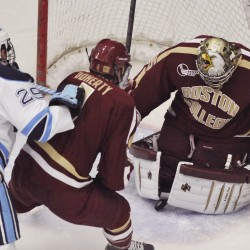 Maine sophomore hockey goalie expects full recovery for next season