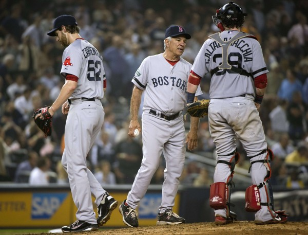 Catcher Jarrod Saltalamacchia (39) could stay with the Boston Red Sox this season as the team has not traded him despite signing veteran catcher David Ross two months ago.