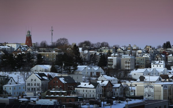 The Portland Observatory stands watch over Munjoy Hill in Portland on Wednesday, Jan. 2, 2013, as the coldest weather of the season grips Maine.