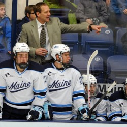 University of Maine, Merrimack College renew men's hockey rivalry with two games at Alfond Arena