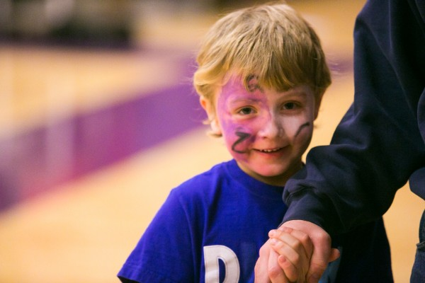 A young Hampden Academy fan before Friday's game on Jan. 18, 2013.