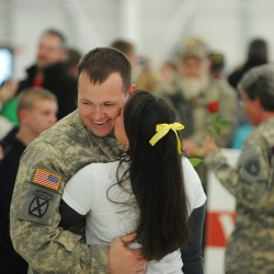 Bangor medevac unit back stateside after Kuwait deployment, but without one soldier