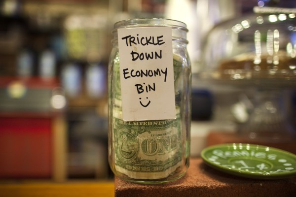 The tip jar at Market House in Portland.