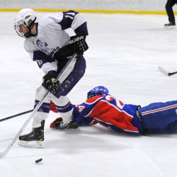 Last-second goal helps Witches rally to 5-5 tie with Broncos