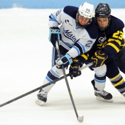 Merrimack keeps last-place UMaine Black Bear hockey winless at Alfond Arena 3-2