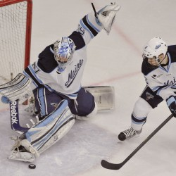 Gaudreau, Milner lead BC past Maine 4-1 in Hockey East title game