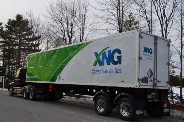 A newly finished truck belonging to Xpress Natural Gas, which is making compressed natural gas, or CNG, available to Maine commercial and institutional customers for the first time.