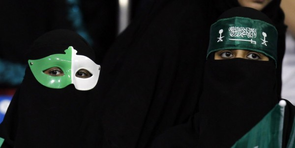 Saudi Arabia's fans are pictured before the team's Gulf Cup tournament soccer match against Yemen in Isa Town on Jan. 9, 2013.