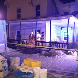 The Maine Drug Enforcement Agency arrested and charged three people with trafficking in methamphetamine and endangering the welfare of a child on Tuesday, Jan. 29, 2013, after executing a search warrant at an apartment house at 60 Military St. in Houlton.
