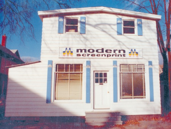 Modern Screenprint moved to Garland Street as a result of urban renewal. Dan McLeod renovated and expanded the building several times before relocating to Hillside Drive near the Broadway Shopping Center in 1984, in what had been a warehouse. The business remains there today.