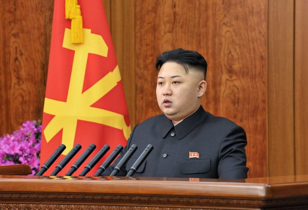 North Korean leader Kim Jong-Un delivers a New Year address in Pyongyang in this picture released by the North's official KCNA news agency on Jan. 1, 2013.
