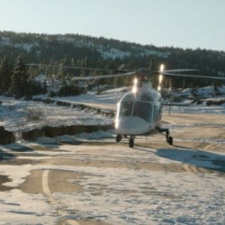 LifeFlight helicopter from Bangor lands on Cadillac Mountain on Tuesday morning, Jan. 1, 2013 to rescue a 19-year-old woman who wasn''t dressed for the conditions while attempting to hike to the top of the mountain to see the sun rise.