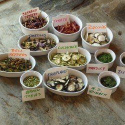 A variety of dried vegetables. Ana Antaki photo.