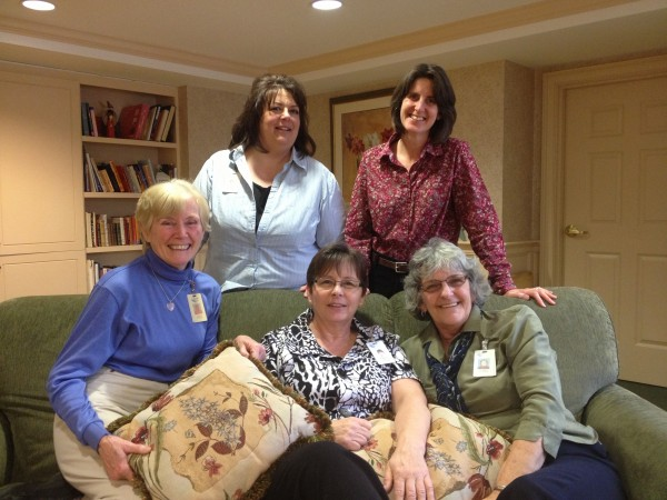 Celebrating National Activities Professionals Week, Jan. 20-26, Quarry Hill honored activities staffers Judy Cucinotta, Noreen Clark, and Patty Young (seated); Lisa Payson and Rachel Turner (standing); and Andrea Annis and Megin Chaples (not shown).