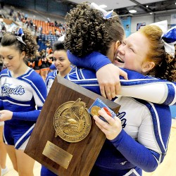 Lewiston, Medomak Valley win KVAC cheering championships