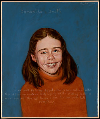 Samantha Smith, Americans Who Tell the Truth portrait by Robert Shetterly