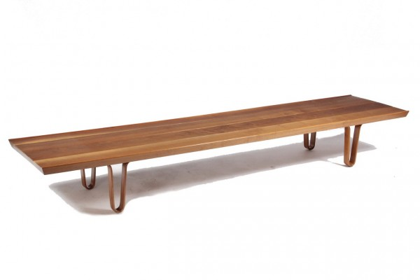 1950s 'Long John' teak coffee table by Dunbar Furniture Co.