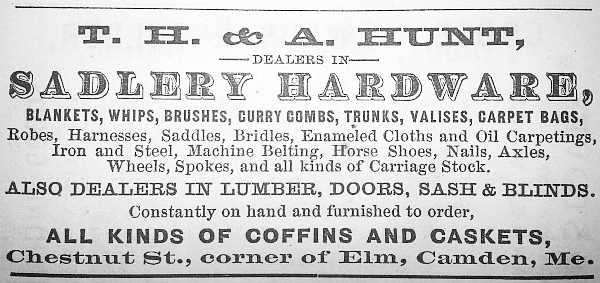 While in business with his partner Spencer Mero, Abel Hunt was also in business with his brother Thomas, running their father's business in Camden.