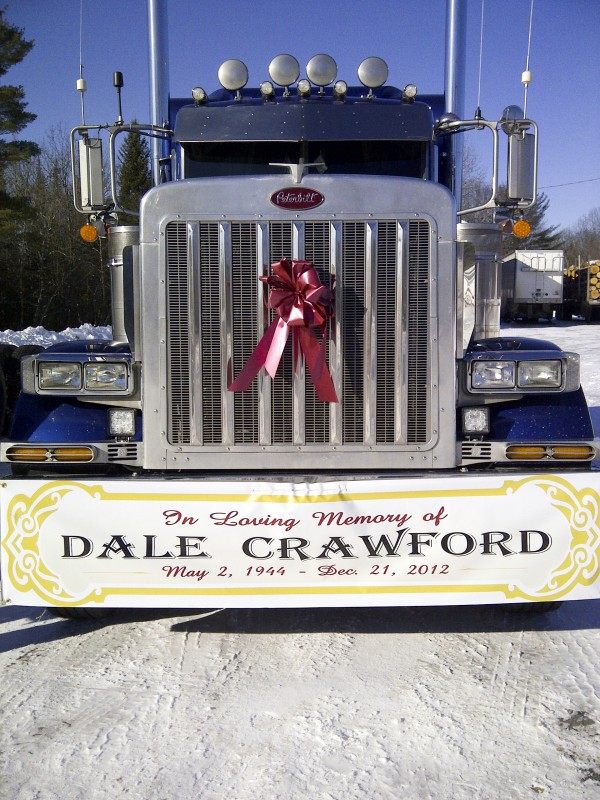 A 37-truck convoy led by Dale Crawford''s son Percy carried the elder Crawford''s ashes from Robin A. Crawford & Son trucking in Chester to Wytopitlock Baptist Church on Saturday.