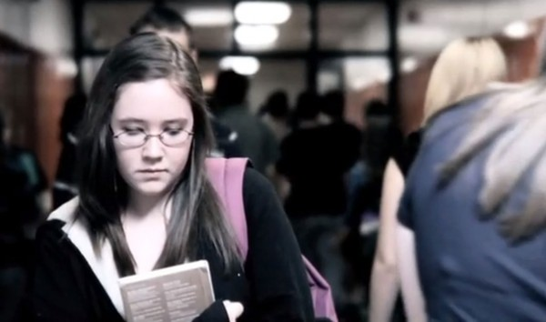 "A screenshot from the student-driven movie ""April's Heart,"" which was based on teens' real-life struggles."