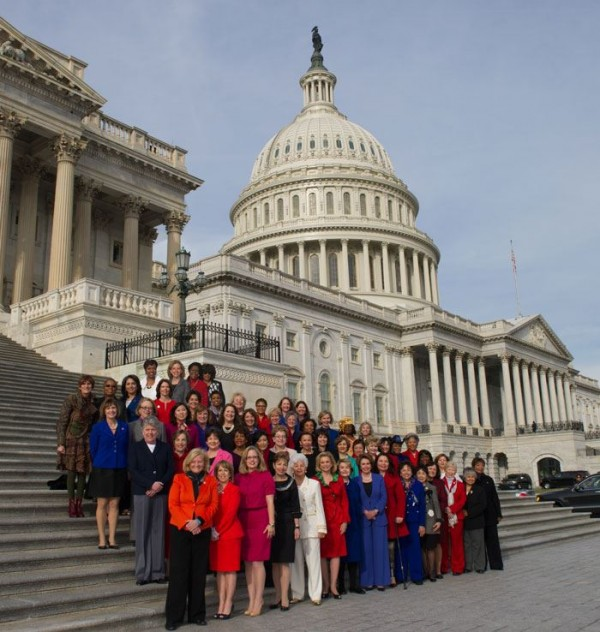 Several members of Congress were added digitally to this photo released by  Democratic Minority Leader Nancy Pelosi's office. At the front is Maine First District Rep. Chellie Pingree, who appears in the original version of the photo.
