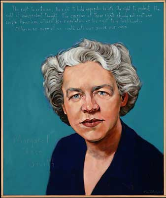 Margaret Chase Smith, Americans Who Tell the Truth portrait by Robert Shetterly
