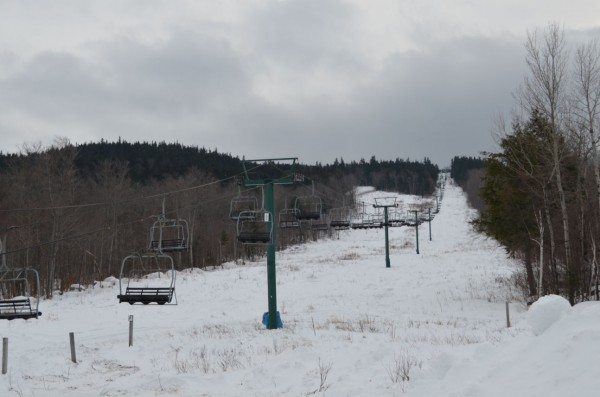 The chairlift at Big Squaw Mountain in Greenville was being worked on on Wednesday, Jan. 9, 2013.