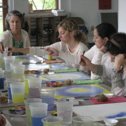 Watercolor painting class.