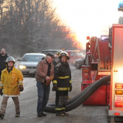 Early morning fire destroys Winterport garage that housed carpeting business