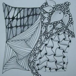 Zentangle tile courtesy of Jenny Perruzzi