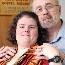 David Peterson and Jessica Gilliam, who each were homeless, met at the Hope Haven Gospel Mission in Lewiston and fell in love. On Saturday, March 2, they'll marry in the shelter's dining room.