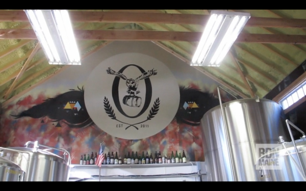 The interior of Oxbow Brewery, located on an 18-acre farm in Newcastle.