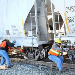 Three train cars derail in Rumford