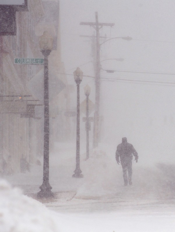 The blizzard conditions in the Bangor region are expected to continue into the late afternoon.