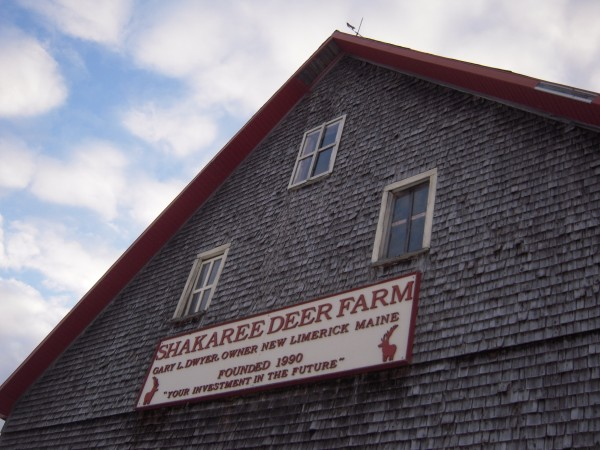 The barn at Shakaree Red Deer Farm in New Limerick.