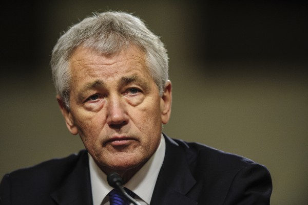 Former Sen. Chuck Hagel, R-Neb., testifies before the Senate Armed Services Committee, on Thursday, Jan. 31, 2013, in Washington, D.C.