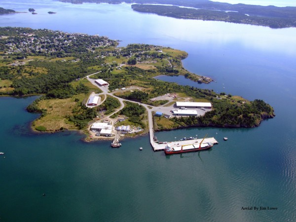The port of Eastport is seen in an aerial photograph in 2010.