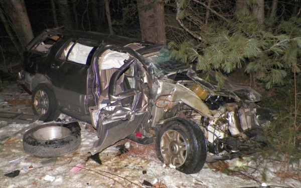 Hilda Howe, 36, of Farmington Falls, died after her Mercury SUV flipped over several times on Tower Road in Vienna on Wednesday morning, Feb. 6, 2013. Police say speed was likely a factor in the crash.