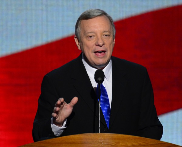 Sen. Dick Durbin, D-Ill., appears at the 2012 Democratic National Convention in Time Warner Cable Arena in Charlotte, N.C.