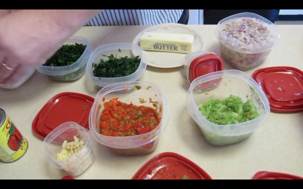 Some of the ingredients used in Carey Haskell's shrimp etoufee.